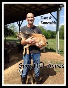 Dave holding esmeralda