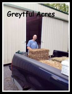 Dave with bale of hay