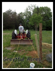 Tractor pulling daves homemade fence stretcher